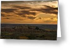 Prairie Wind Overlook Badlands South Dakota Greeting Card by Steve Gadomski