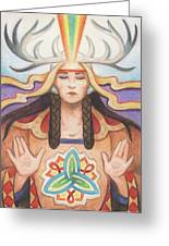 Pray For Unity Dream Of Peace Greeting Card by Amy S Turner