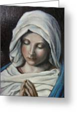 Prayer Greeting Card by Sorin Apostolescu