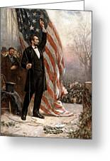 President Abraham Lincoln Giving A Speech Greeting Card by War Is Hell Store