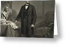 President Abraham Lincoln Greeting Card by International  Images