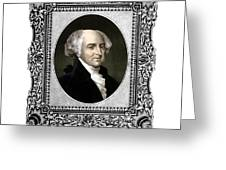 President John Adams Portrait  Greeting Card by War Is Hell Store