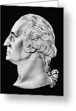 President Washington Bust  Greeting Card by War Is Hell Store