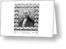 Presidents of The United States 1789-1889 Greeting Card by War Is Hell Store
