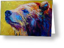 Pretty Boy - Grizzly Bear Greeting Card by Marion Rose