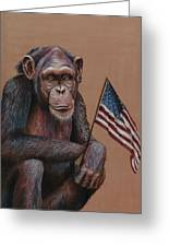Primitive Patriotism Greeting Card by Jim Figora