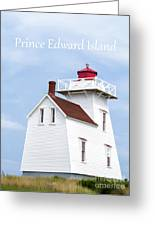 Prince Edward Island Lighthouse Poster Greeting Card by Edward Fielding