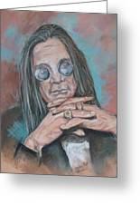 Prince Of Darkness Greeting Card by Sandra Valentini