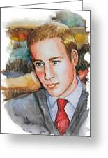 Prince William Greeting Card by Patricia Allingham Carlson