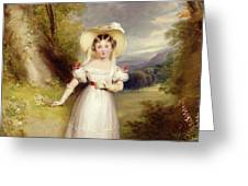 Princess Victoria aged nine Greeting Card by Stephen Catterson the Elder Smith