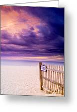 Private Beach Cape Cod Greeting Card by Matt Suess