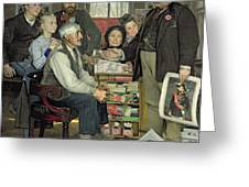 Propaganda Greeting Card by Jean Eugene Buland