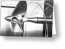 Propeller Cavitation Greeting Card by National Physical Laboratory (c) Crown Copyright