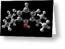 Propofol Molecule Greeting Card by Laguna Design