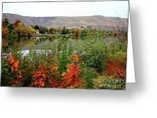 Prosser Autumn River With Hills Greeting Card by Carol Groenen