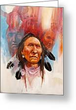 Proud Warrior Greeting Card by Robert Carver
