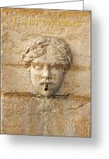 Provence Fountain 1 Carpentras Greeting Card by Philippe Taka