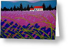 Provence Landscape Greeting Card by John  Nolan