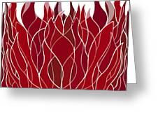 Psychedelic flames Greeting Card by Frank Tschakert