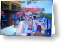 Pub Greeting Card by Sheila Mashaw