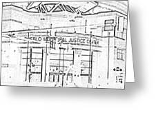Pueblo Municipal Justice Center 2 Greeting Card by Lenore Senior