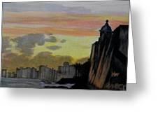 Puerto Rican Sunset Greeting Card by Liz Borkhuis