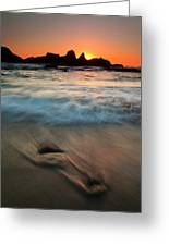 Pulled By The Tides Greeting Card by Mike  Dawson