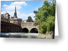Pulteney Bridge And Weir Greeting Card by Jane Rix