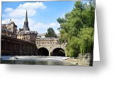 Pulteney Bridge And Weir Greeting Card by Jane Rix