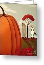 Pumpkin Valley Greeting Card by Catherine Holman