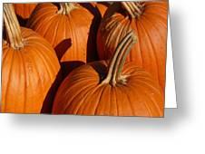 Pumpkins Greeting Card by Michael Thomas
