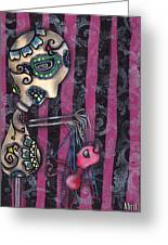 Puppet Master Greeting Card by  Abril Andrade Griffith