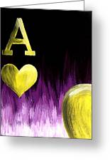 Purple Aces Poker Art3of4 Greeting Card by Teo Alfonso