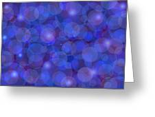 Purple And Blue Abstract Greeting Card by Frank Tschakert