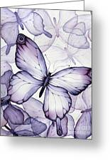 Purple Butterflies Greeting Card by Christina Meeusen