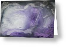 Purple Explosion By Madart Greeting Card by Megan Duncanson