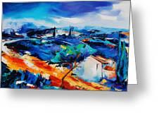 Purple Hills Greeting Card by Elise Palmigiani