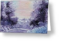 Purple Majesty Landscape Greeting Card by Jera Sky