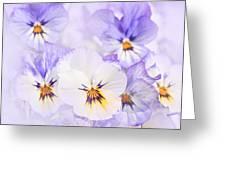 Purple Pansies Greeting Card by Elena Elisseeva