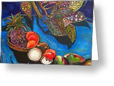 Purple Pineapple Greeting Card by Patti Schermerhorn