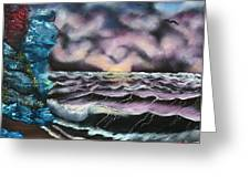 Purple Rising Greeting Card by Barbara Teller
