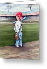 Put Me In Coach Greeting Card by Sam Sidders
