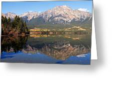 Pyramid Mountain And Pyramid Lake 2 Greeting Card by Larry Ricker