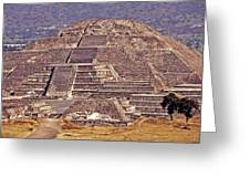 Pyramid Of The Sun - Teotihuacan Greeting Card by Juergen Weiss
