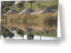 Pyrimids By The Lakeside Cache Greeting Card by Rob Hans