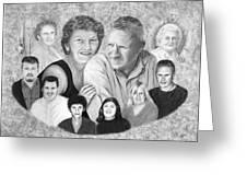 Quade Family Portrait  Greeting Card by Peter Piatt