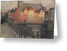 Quai De La Paille Greeting Card by Paul Albert Steck