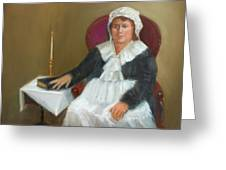 Quaker Lady Greeting Card by Marjorie Harris