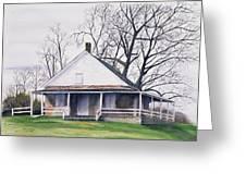 Quaker Meeting House Greeting Card by Tom Dorsz