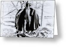 Quaker Pilgrim Greeting Card by Bill Cannon